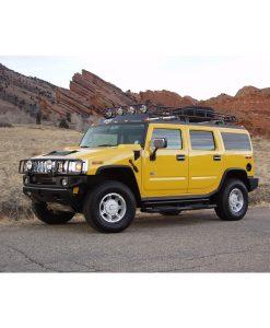gobi-roof-racks-hummer-h2-ranger-with-tire-red-rocks