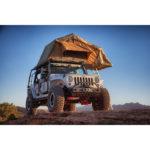 jeep jku overland offroad rack roof top tent