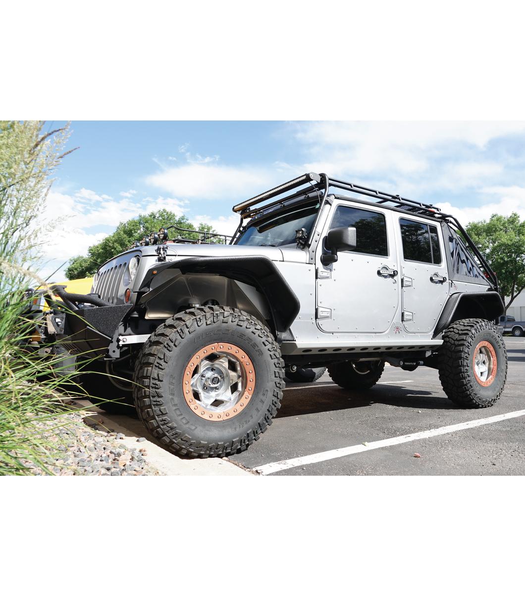 Jeep Jk45 4door 183 Stealth Rack 183 Lightbar Setup Gobi Racks