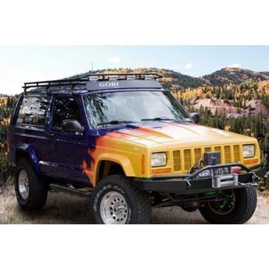 jeep cherokee xj stealth rack 4 independent led lights no sunroof gobi racks. Black Bedroom Furniture Sets. Home Design Ideas