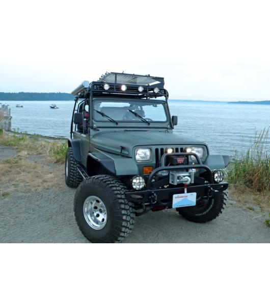 Jeep Wrangler Luggage Rack: JEEP YJ 86-95· RANGER RACK· Multi-Light Setup