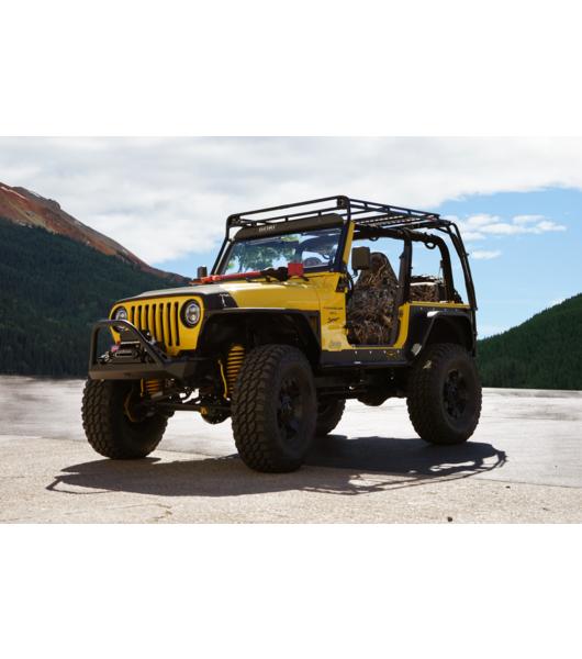 Jeep tj stealth rack lightbar setup gobi racks gobi roof racks jeep wrangler j stealth rack aloadofball Gallery