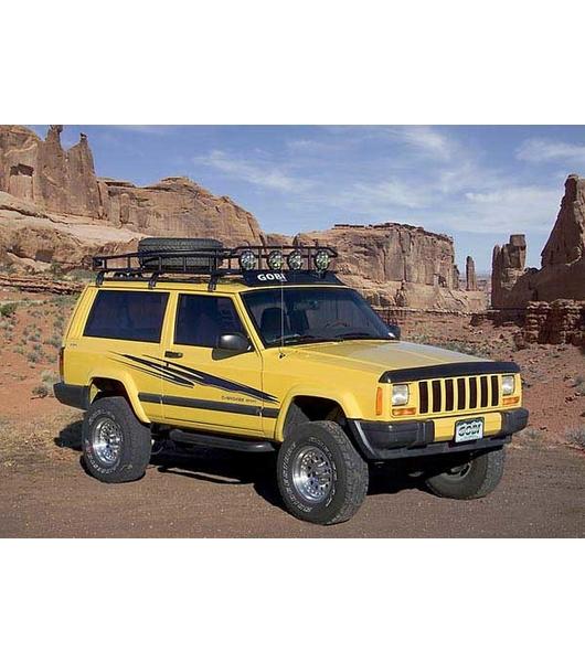 jeep cherokee xj ranger w tire rack multi light setup with sunroof gobi racks. Black Bedroom Furniture Sets. Home Design Ideas