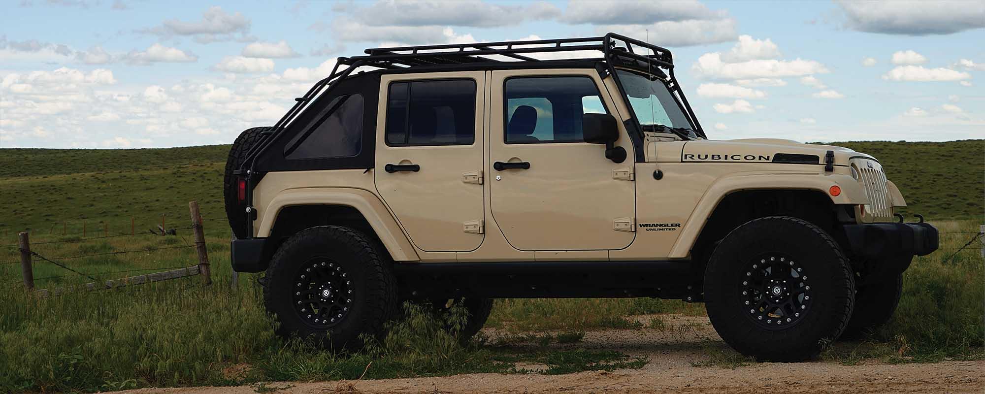 Gobi Roof Racks Jeep Wrangler Jk45 Stealth Rack Side
