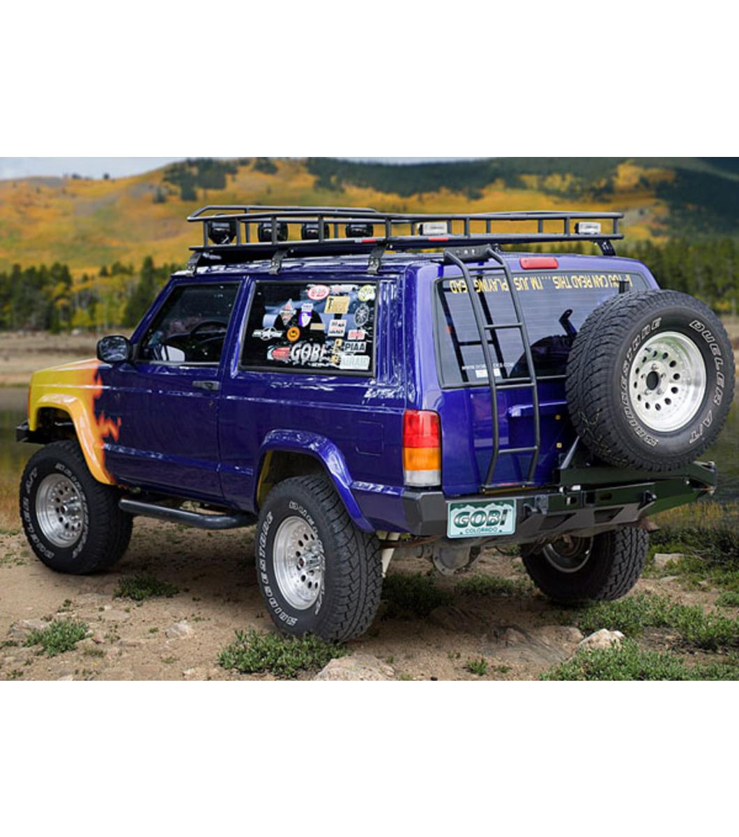 jeep cherokee xj ranger rack multi light setup no sunroof gobi racks. Black Bedroom Furniture Sets. Home Design Ideas