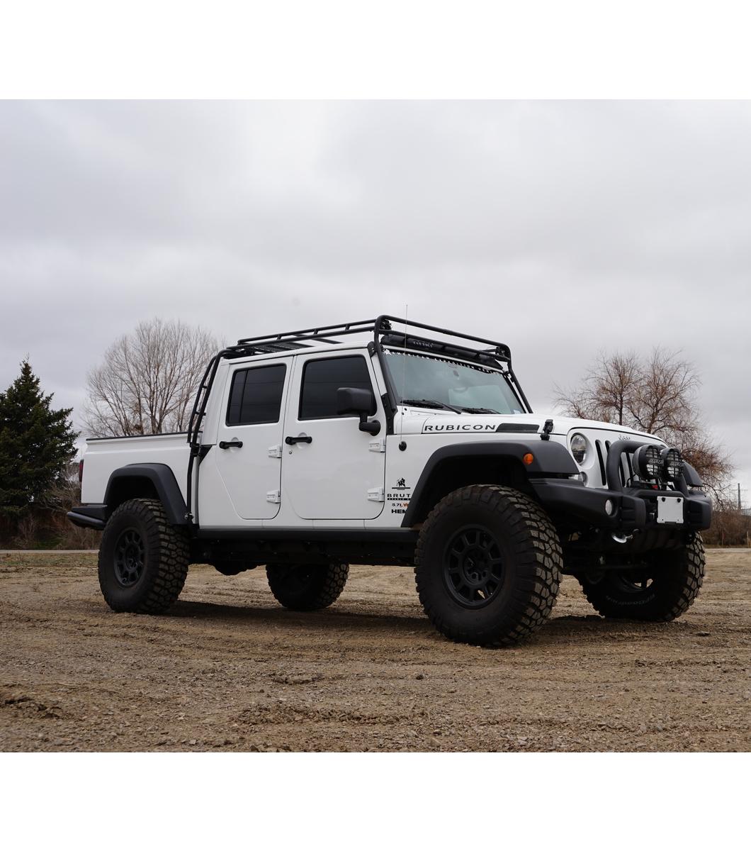 2018 4 Door Jeep Wrangler >> JEEP AEV BRUTE· STEALTH RACK· Lightbar Setup - Gobi Racks