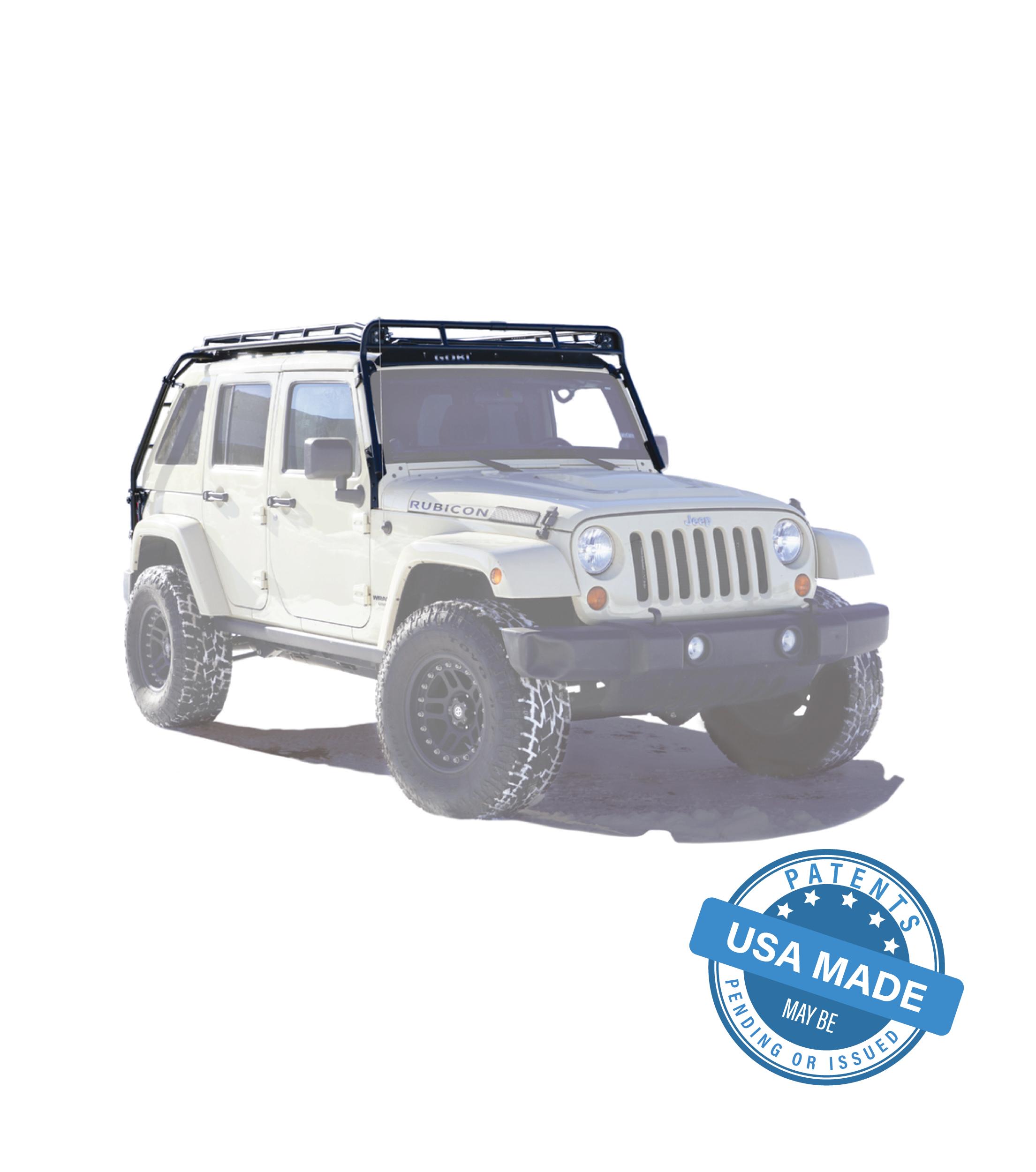 jeep jku dv8 4door stealth rack multi light 50 led setup