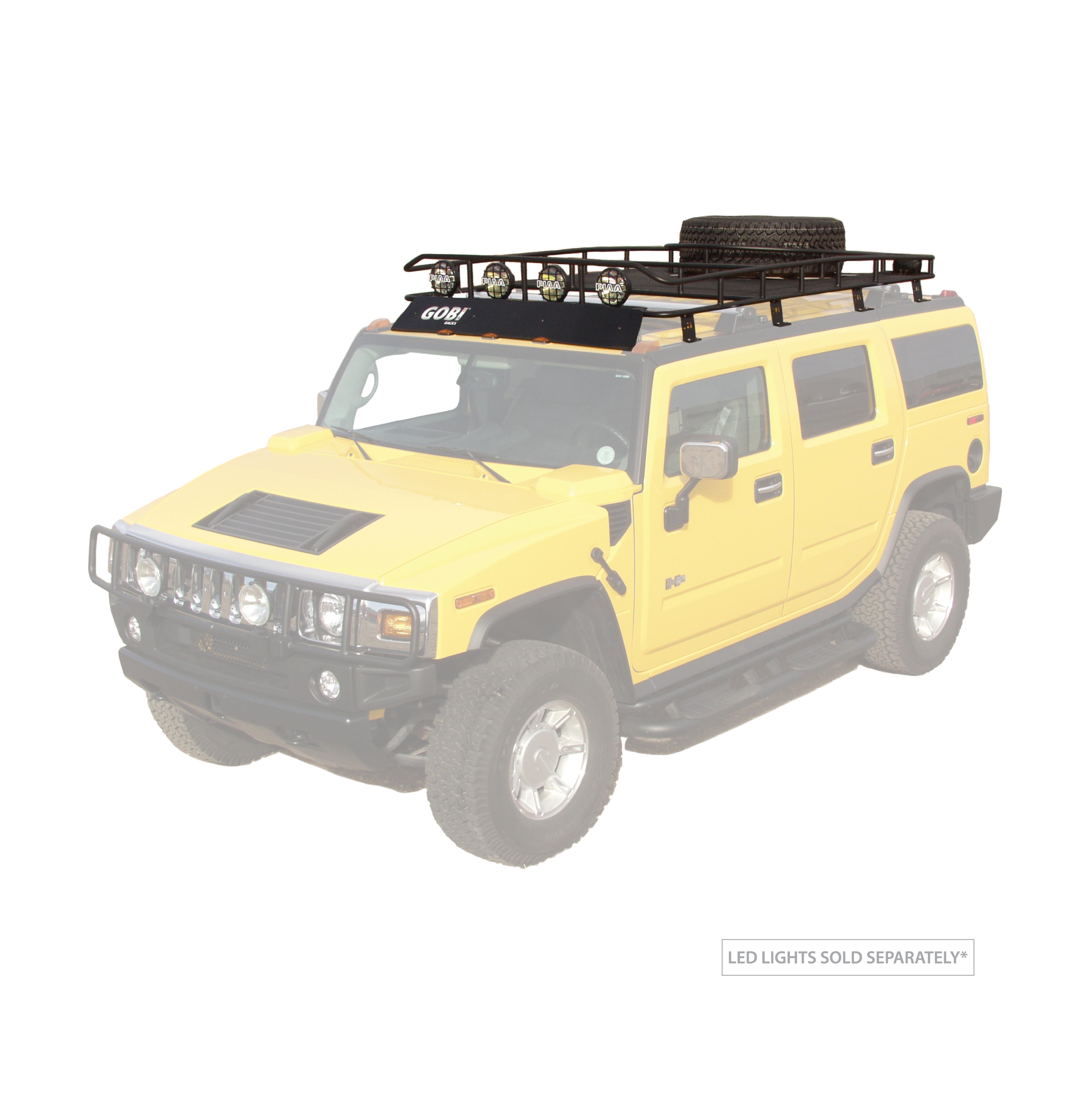 Gobi Hummer H2 Ranger Tire Carrier Rack With Sunroof