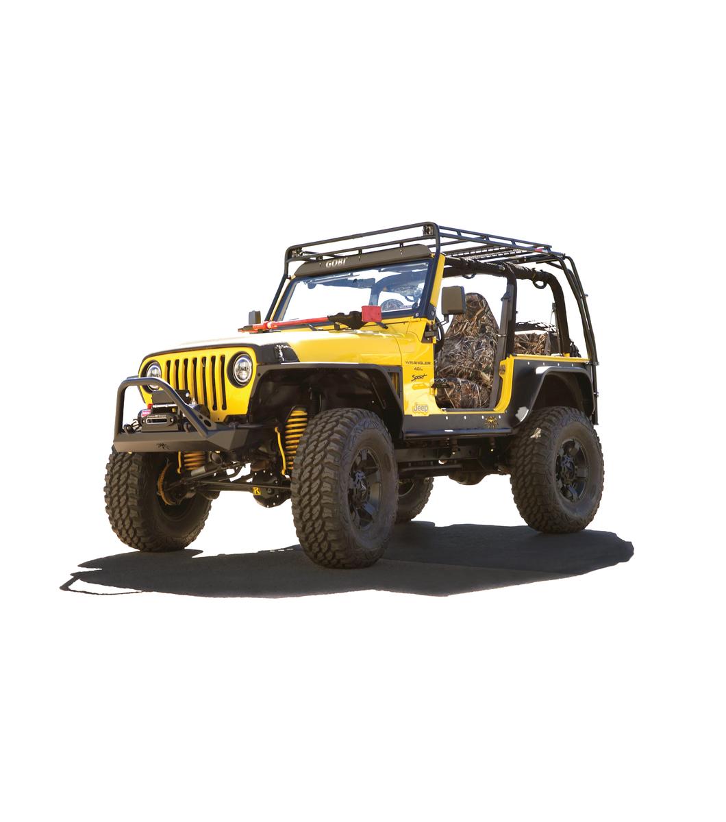 Gobi Jeep Tj Stealth Rack Lightbar Setup With Sunroof