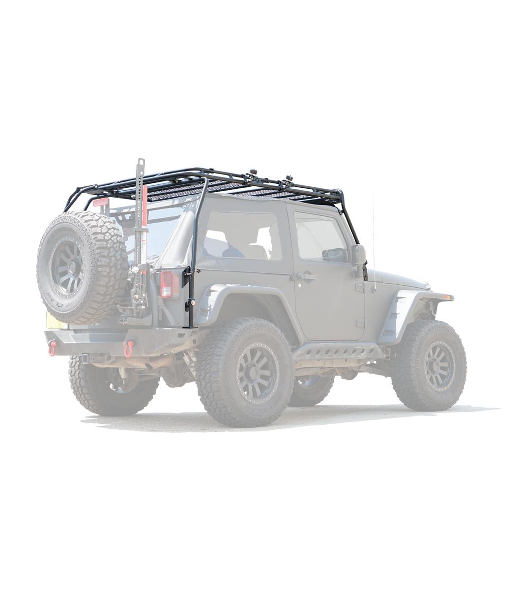 Gobi Jeep Jk 2door Stealth Rack 40 Led Light Setup