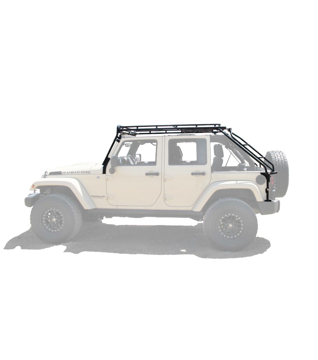 Gobi Jeep Jku45 4door Stealth Rack Multi Light Amp 50 Quot Led Setup