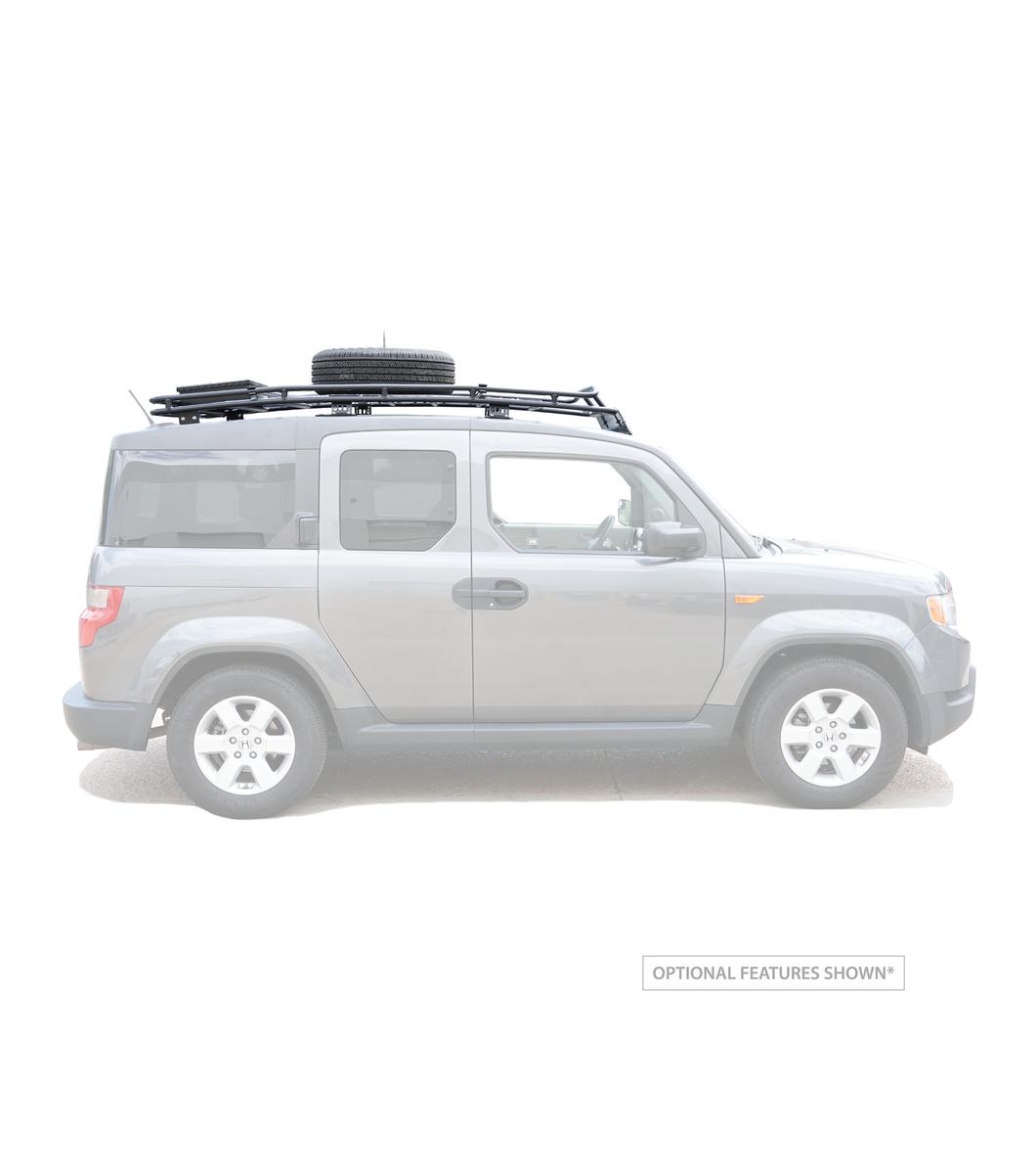Gobi Honda Element Stealth Rack No Sunroof Multi Light Setup
