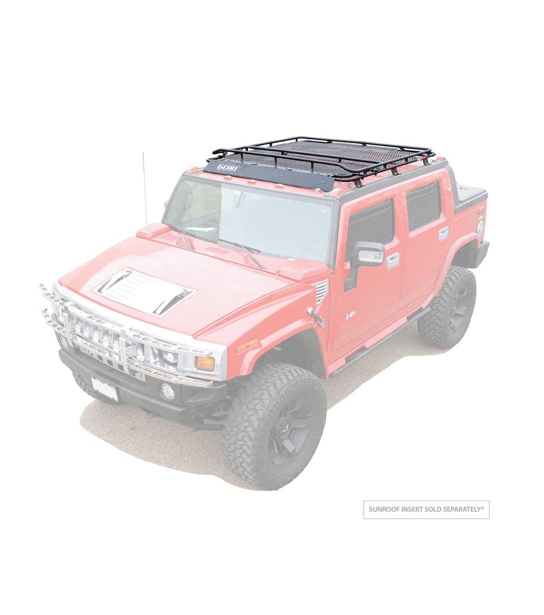 Gobi Hummer Sut Stealth Rack With Sunroof Multi Light Setup