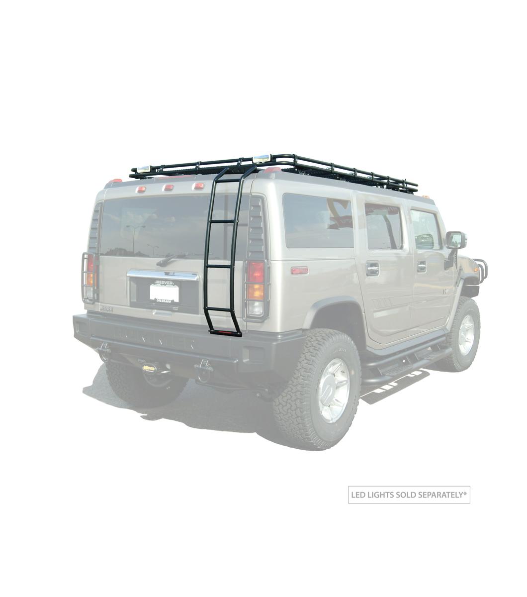 Gobi Hummer H2 Stealth Rack With Sunroof Multi Light Setup