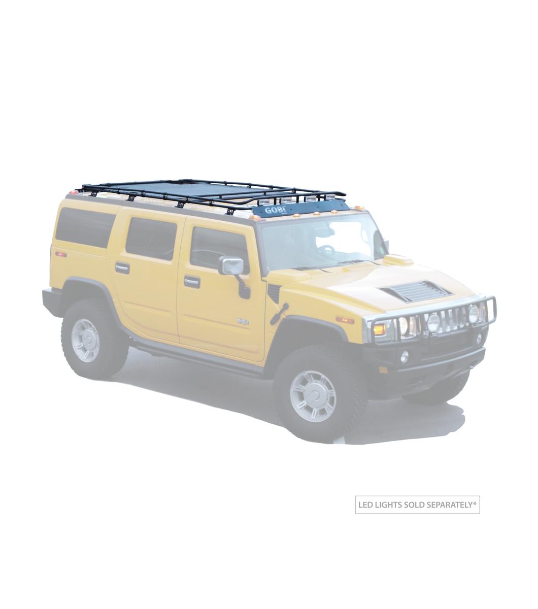 Gobi Hummer H2 Stealth Rack No Sunroof Multi Light Setup