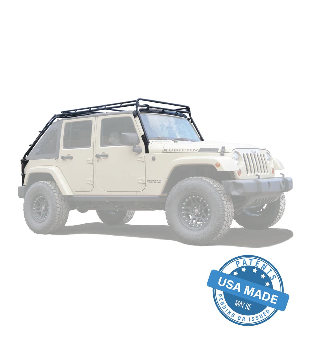 GOBI Jeep JKU45 4Door Stealth Rack 40″ LED Setup