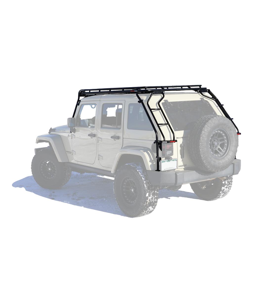 Gobi Jeep Jku Dv8 4door Stealth Rack 40 Quot Led Setup