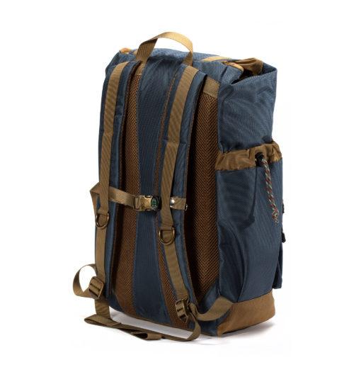 GOBI Backpack Getaway Gun Metal Blue and Tan