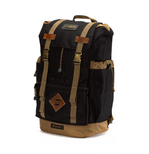 GOBI Get-away Backpack Black and Tan