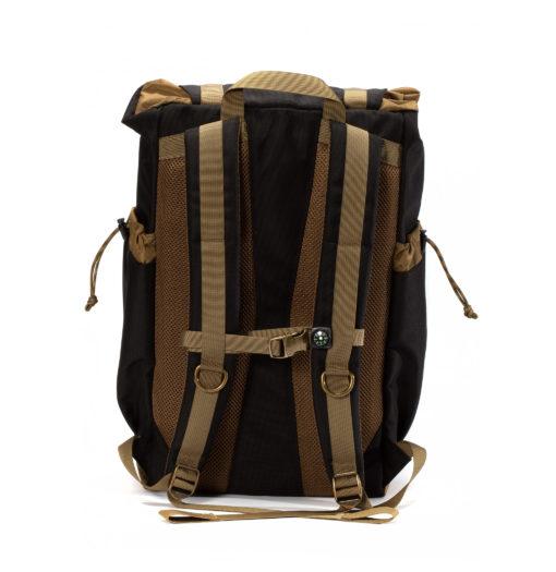 GOBI Get-away Backpack Jet Black and Tan