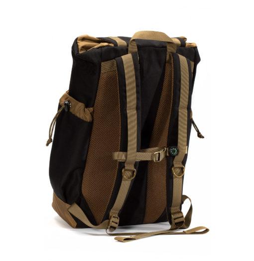 GOBI Get-away Backpack Black on Tan