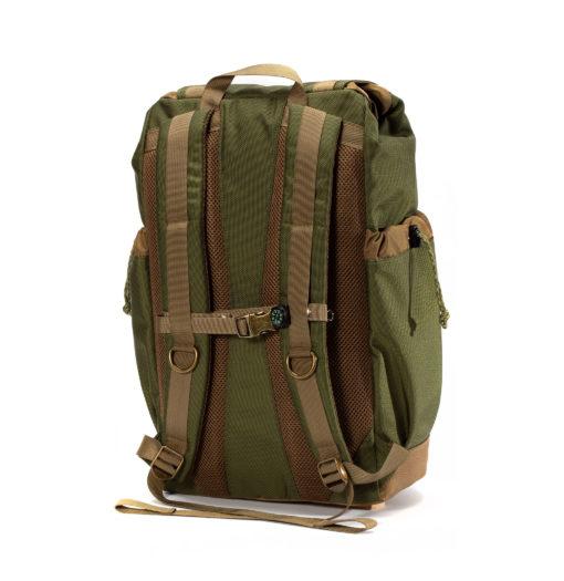 GOBI Get-away Backpack Olive Drab Green and Tan