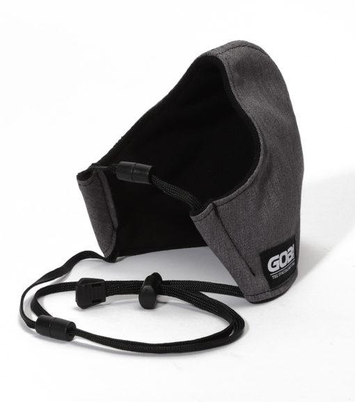 Lanyard Face Mask Solid Gray/Black